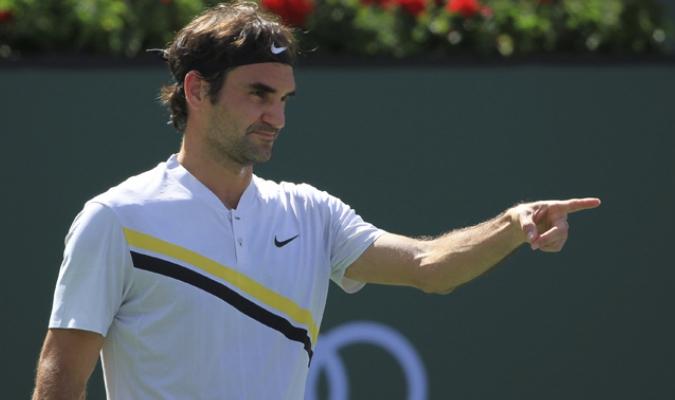 Roger Federer en Indian Wells / AP