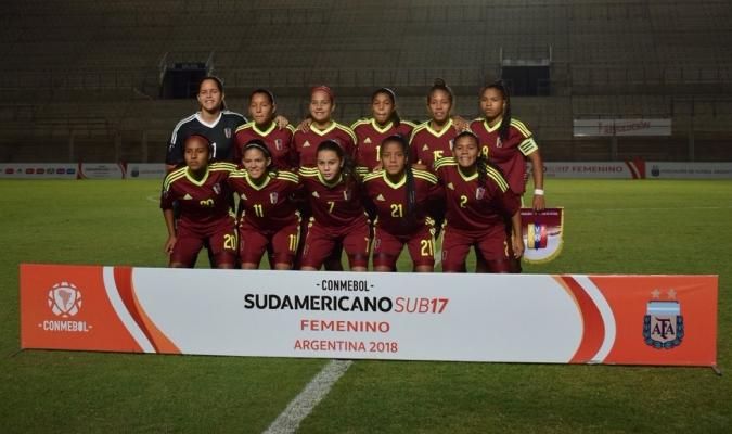Venezuela contra Chile / Foto: Twitter Fútbol Femenino FVF