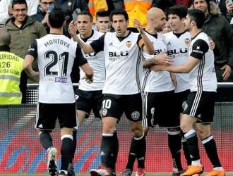 El Valencia sigue en la parte alta de la tabla/ Foto EFE