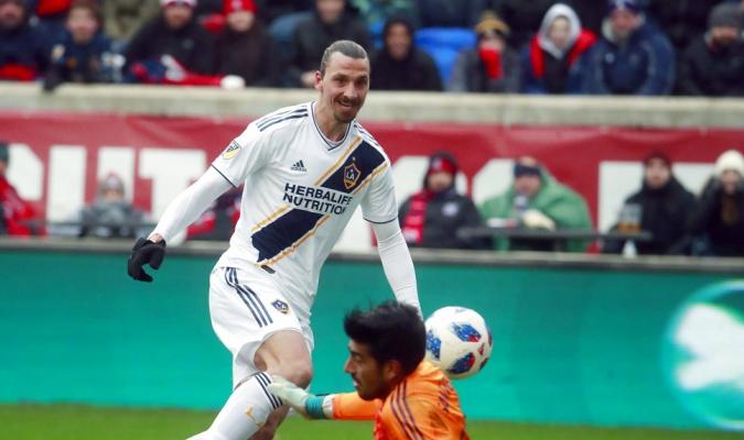 Ibra lleva tres goles en la MLS / Foto AP