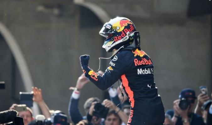 Fue la sexta victoria en su carrera en la F1 || Foto: Twitter (@Soymotor)