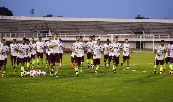 La Vinotinto inició los entrenamientos / Foto Prensa Vinotinto
