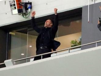 Simeone estuvo eufórico por la victoria / Foto EFE