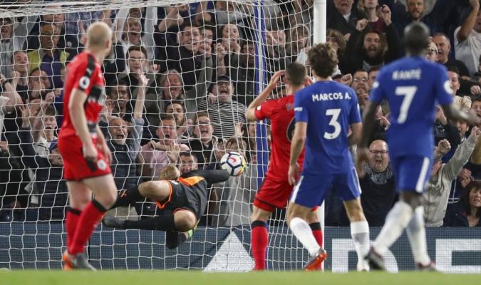 El Chelsea no pudo con el modesto Huddersfield / Foto AP