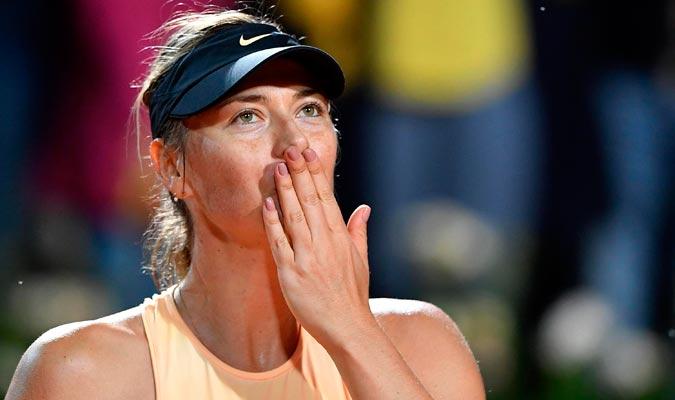 Sharapova sigue con buen pie en Roma/ Foto AP
