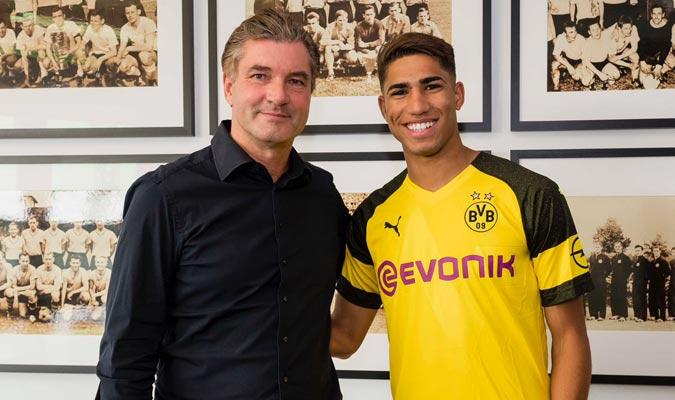 Achraf fue cedido por dos temporadas/ Foto @BVB