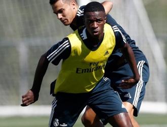 Vinicius ya ha entrenado con el Madrid/ Foto @realmadrid
