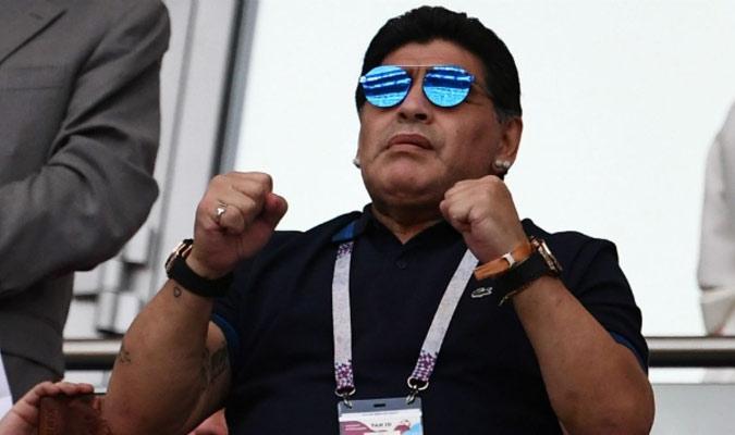 Maradona se mostró de muy buen humor/ Foto Cortesía