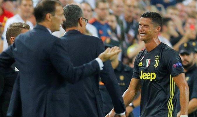 Cristiano fue expulsado en Mestalla || Foto: Cortesía