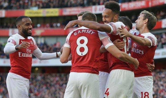 Lacazette y Aubameyang marcaron para el Arsenal/ Foto AP