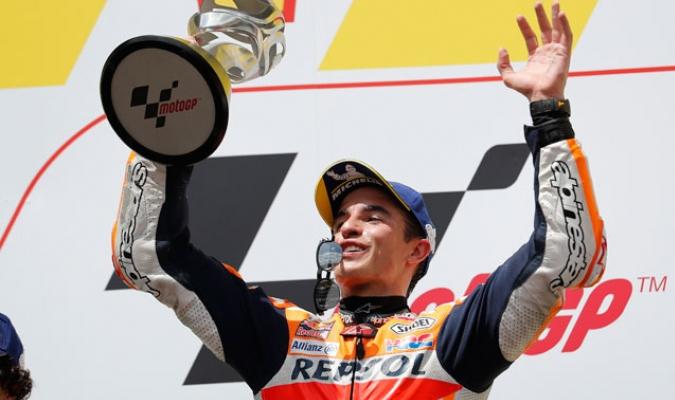 Márquez ganó por novena vez en al campaña/ Foto AP