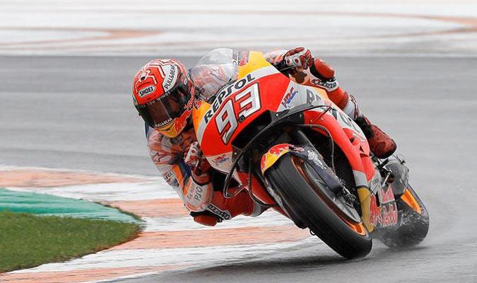 Márquez domino una sesión marcada por la lluvia/ Foto EFE