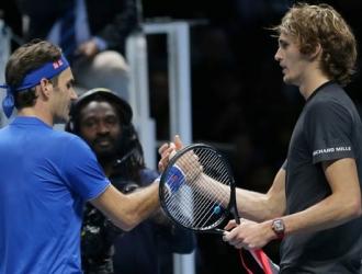Federer le deseó suerte al alemán/ Foto AP