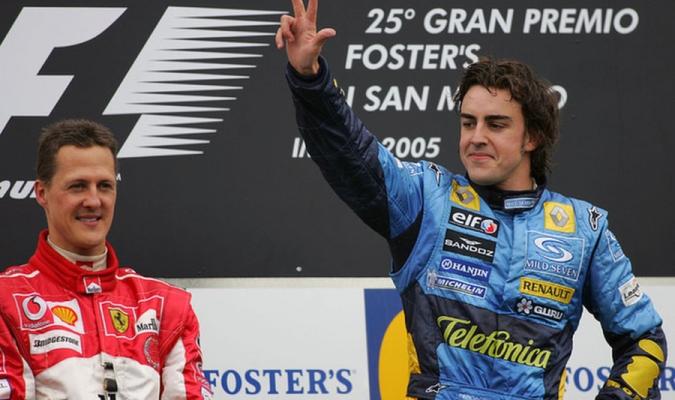 Alonso y Schumacher en Imola en 2005 / Foto: Cortesía