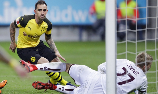 Alcácer sigue en su racha goleadora / Foto: AP