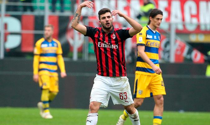 Cutrone marcó el primero gol rossonero/ Foto AP