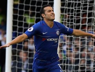Pedro anotó el gol 1.000 del Chelsea en Premier/ Foto AP