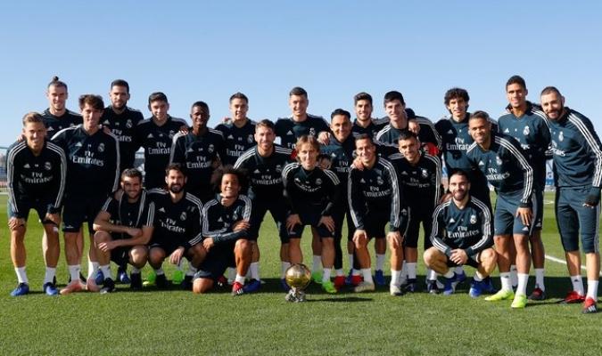 Modric celebró con la plantilla merengue / Foto: Cortesía (@realmadrid)