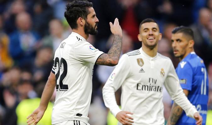 Isco marcó dos goles ante el Melilla Foto: AP