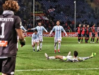Celebración de los jugadores del Entella / Foto: Cortesía