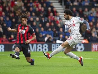 Segundo triplete de Salah con la camiseta del Liverpool / Foto: AP