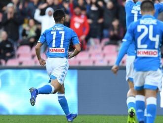 Napoli se consolida en la segunda plaza de la Serie A Foto: Cortesía