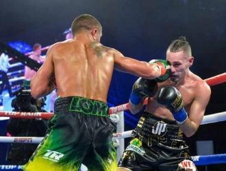 El boxeador deleitó con una buena pelea Foto: Cortesía