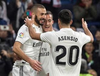 Benzema celebró el único gol del partido/ Foto EFE