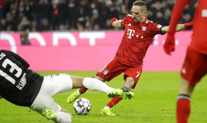 Ribery fue el protagonista del Bayern Foto: AP
