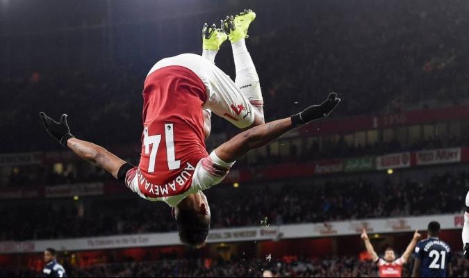 Aubameyang anotó el cuarto tanto   Foto: @DiarioAs