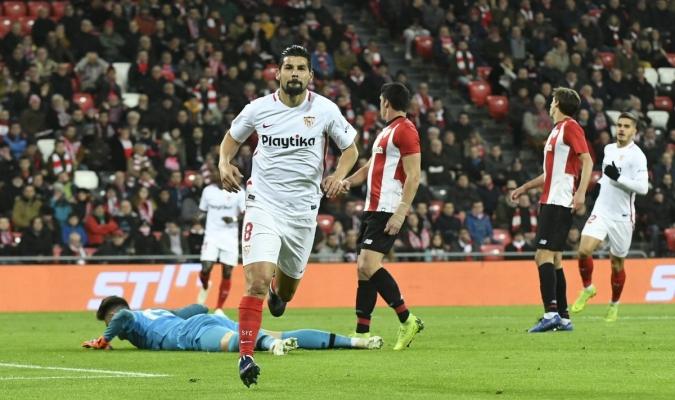 Nolito marcó el primer gol del compromiso | Foto: @SevillaFC