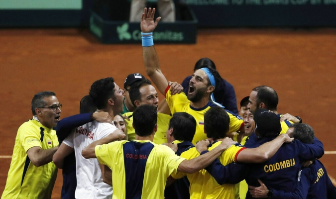 Colombia batalló duramente para lograr su clasificación al Grupo Mundial Foto: AP