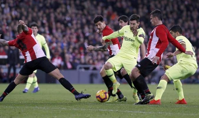 El Barca no pasó del empate en San Mamés | Foto: EFE
