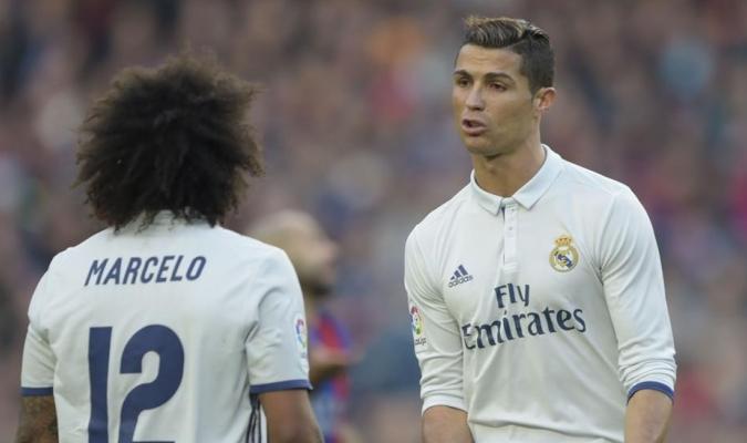Cristiano confesó la decisión a Marcelo en un entrenamiento /  Foto: Cortesía