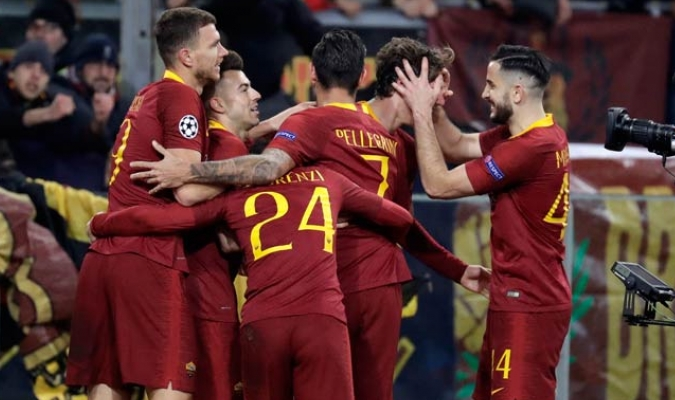 Los giallorossi se impusieron en casa ante el equipo portugués/ Fotos AP