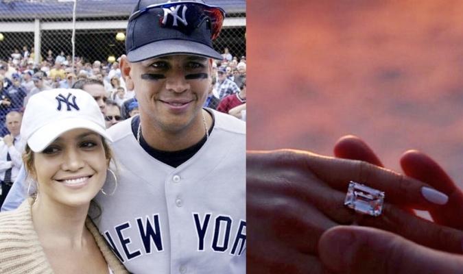 El pelotero y la artista se comprometieron | Foto: MLB