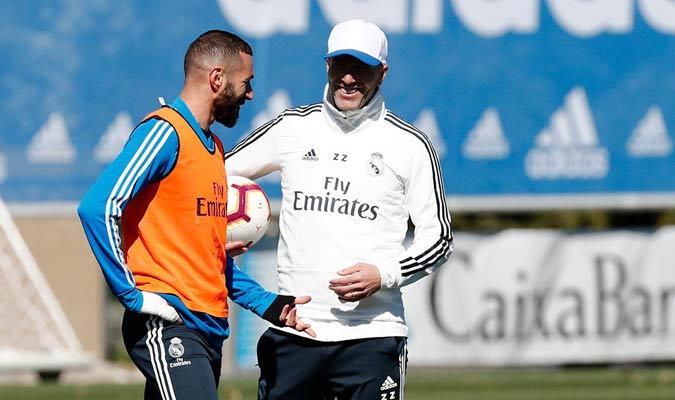 Zidane dirigió su segundo entrenamiento desde su regreso/ Foto @realmadrid