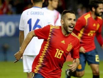 El lateral regresó al combinado de España || Foto: Referencial
