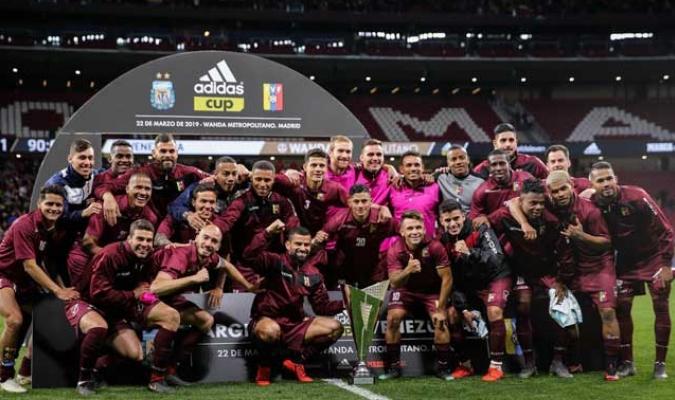 La escuadra venezolano ganó con autoridad en el Wanda Metropolitano de Madrid