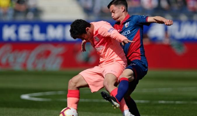El conjunto catalán no pudo llevarse los tres puntos en la visita a los aragoneses/ Fotos AP