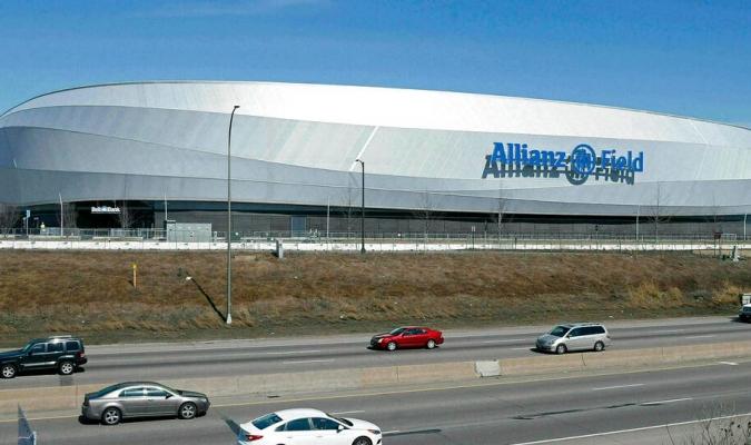 Minnesota empató con NYCFC, en la inauguración de su nuevo estadio // Foto: AP