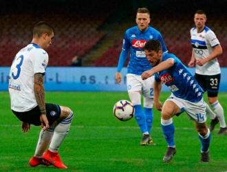 Atalanta consiguió el triunfo ante el Napoli // Foto: AP