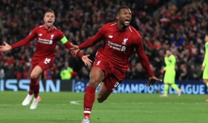 Wijnaldum apareció para los 'Reds' / Foto: Cortesía
