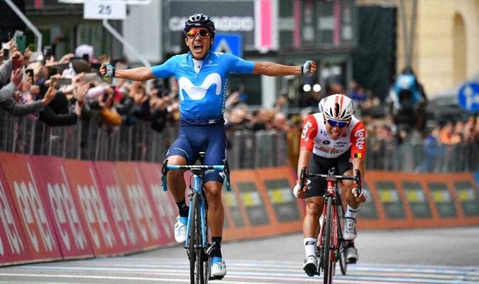 Carapaz dominó el sprint final // Foto: AP