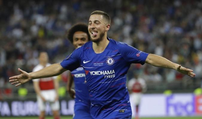 Hazard creer que jugó su último partido con el Chelsea   Foto: AP