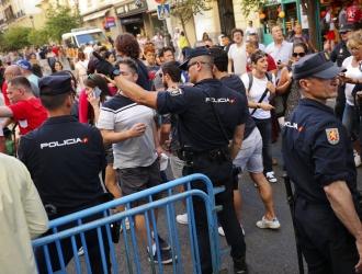 Hinchas ingleses fueron detenidos en Madrid | Foto: AP