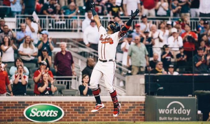 Acuña Jr pegó el 15 y con las bases llenas | Foto: @Braves