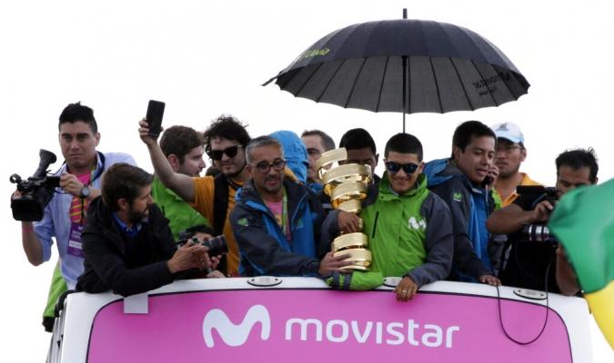 Carapaz fue recibido de gran manera en Ecuador // Foto: AP