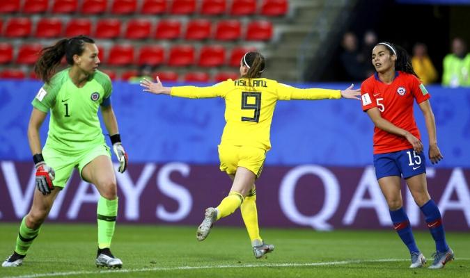 Suecia debutó con victoria el Mundial Femenino // Foto: AP