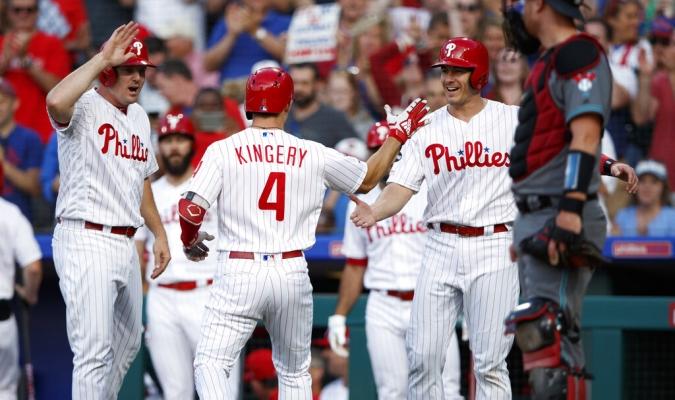 Kingery la botó en el segundo inning | Foto: AP